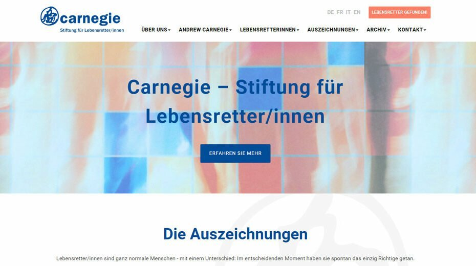 Carnegie - Stiftung fu00fcr Lebensretter