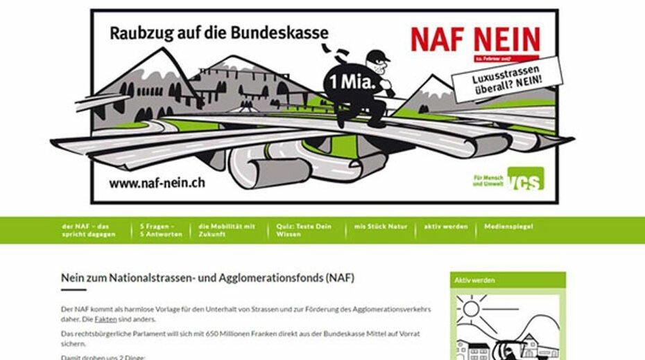 Nein zum Nationalstrassen und den Agglomerationsverkehr (NAF