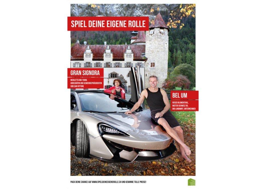 Nicoletta Noi-Togni Grossrätin und Gemeindepräsidentin von San Vittore / Renzo Blumenthal Mister Schweiz 05, Bio Landwirt, Unternehmer